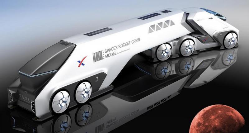 Tesla SpaceTruck : le camion qui vous accompagne sur Mars