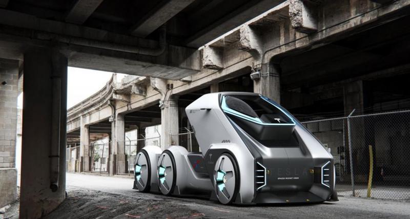 Un véhicule de transport de marchandises