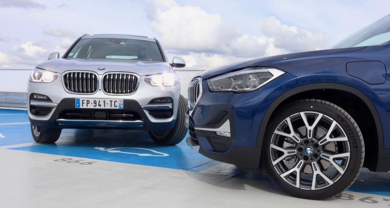BMW X1 et X3 hybrides rechargeables : les photos de notre essai des SUV branchés