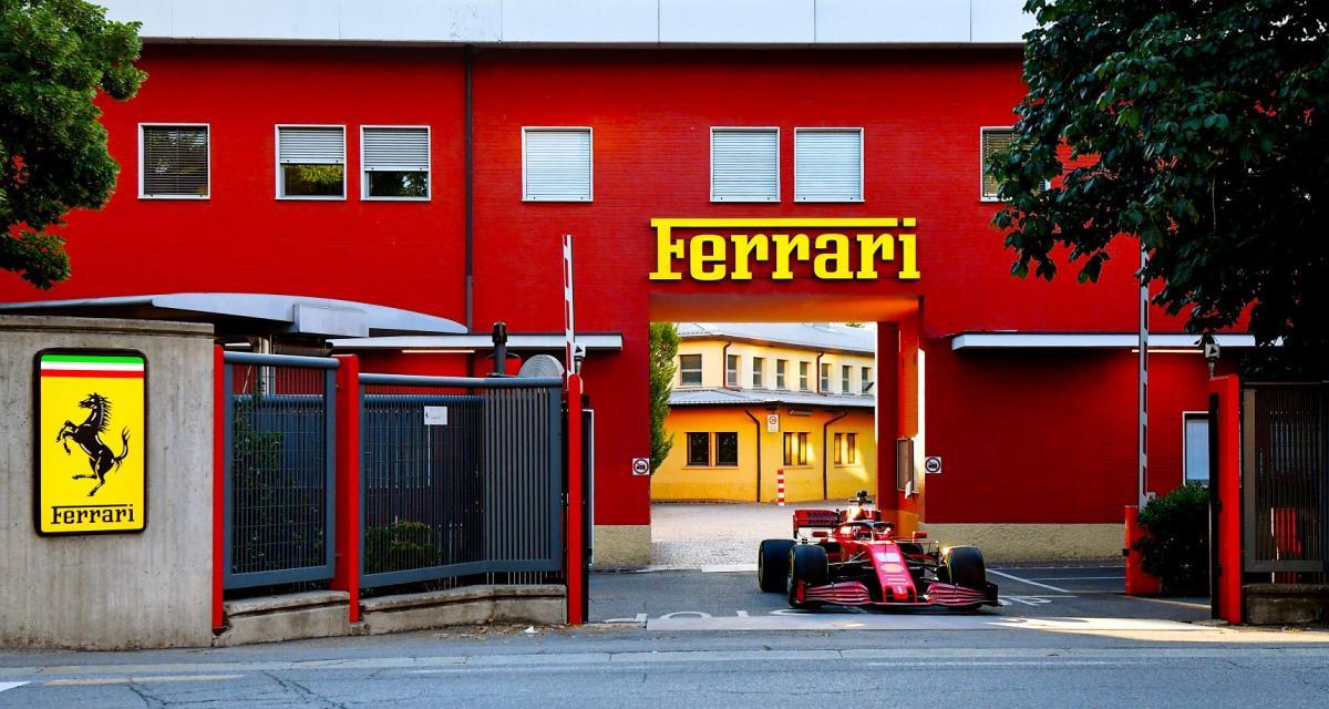 F1 : Charles Leclerc se balade dans les rues de Maranello au volant de la SF1000