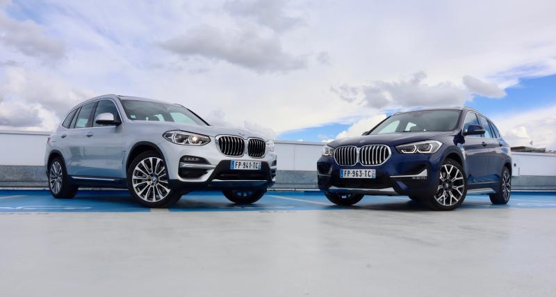 """Essai des BMW X1 et X3 hybrides """"plug-in"""" : sous condition de branchement"""