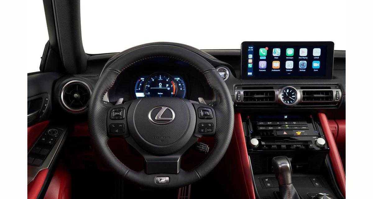 La nouvelle Lexus IS adopte le CarPlay, Android Auto et un système hi-fi Mark Levinson