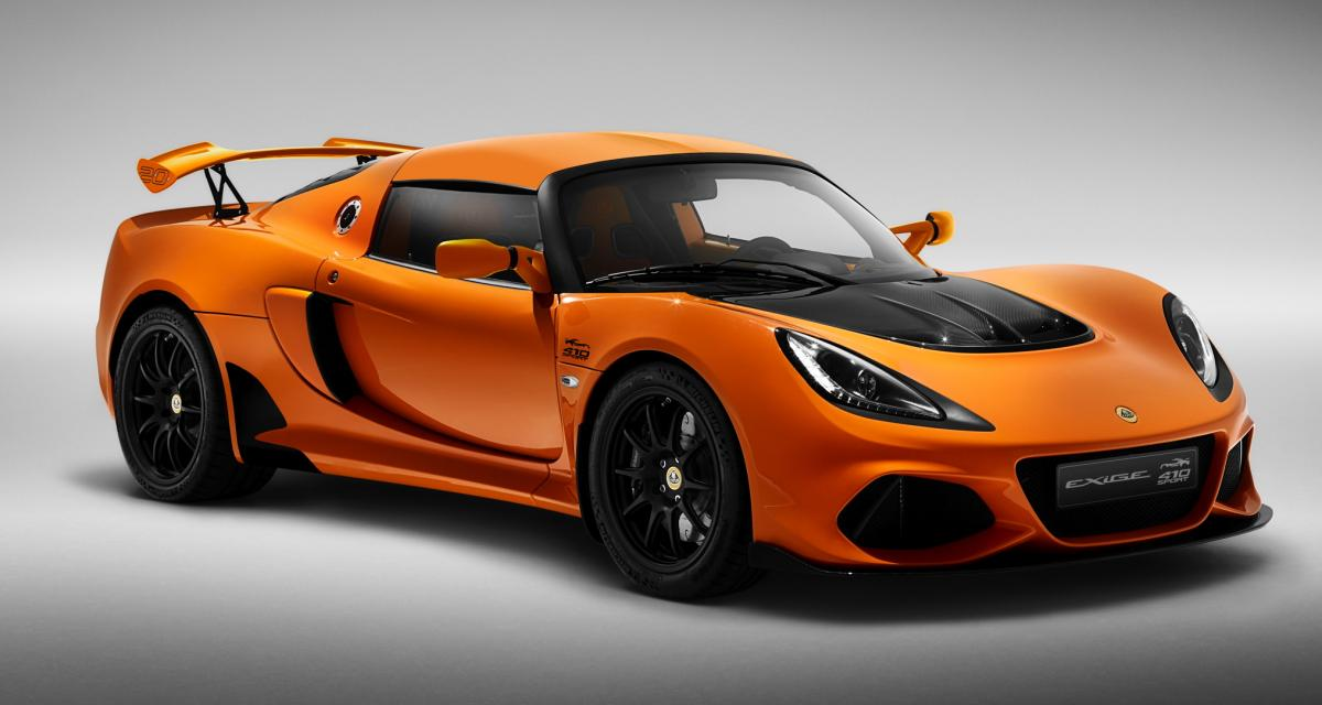 """Lotus Exige Sport 410 """"20th Anniversary"""" : une série spéciale pour la sportive sans filtre"""