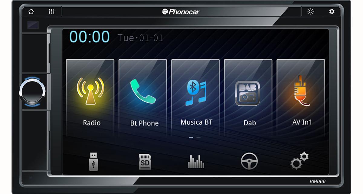 Phonocar commercialise un nouvel autoradio multimédia avec DAB et compatibilité Smartphone