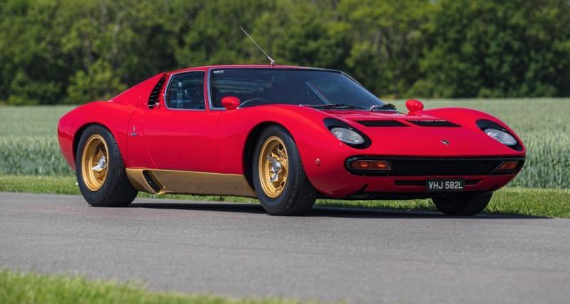 Lamborghini : une rare Miura SV en conduite à droite chez Silverstone Auctions