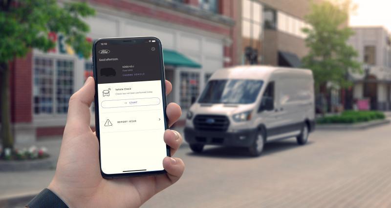Les utilitaires concernés par le FordPass Connect de série
