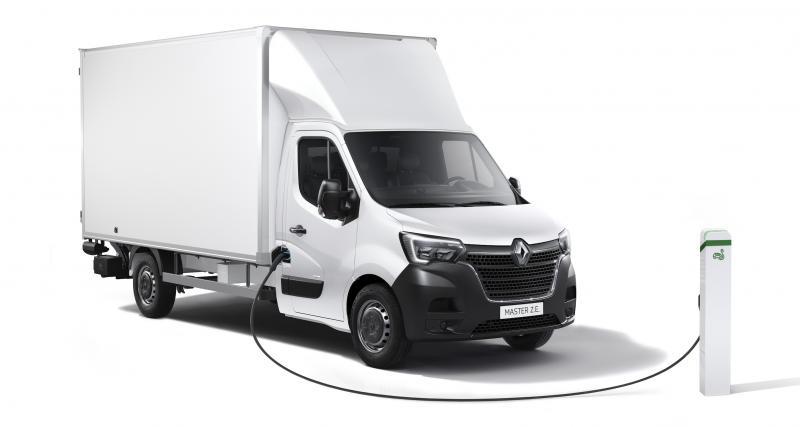 Renault Master Z.E. : charge utile augmentée et nouvelle version châssis cabine