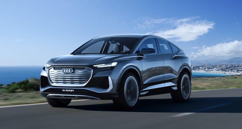 Audi Q4 e-tron Sportback (2021) : 500 km d'autonomie pour le futur SUV coupé