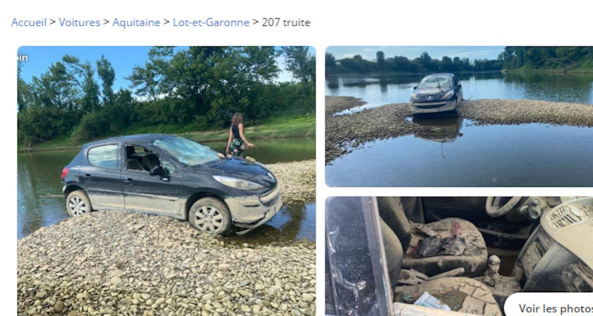 Vu sur Leboncoin : une Peugeot 207 échouée dans la Garonne attend son heureux propriétaire