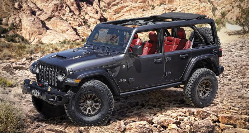 Jeep Wrangler Rubicon 392 Concept : une pièce unique pour les nostalgiques du V8