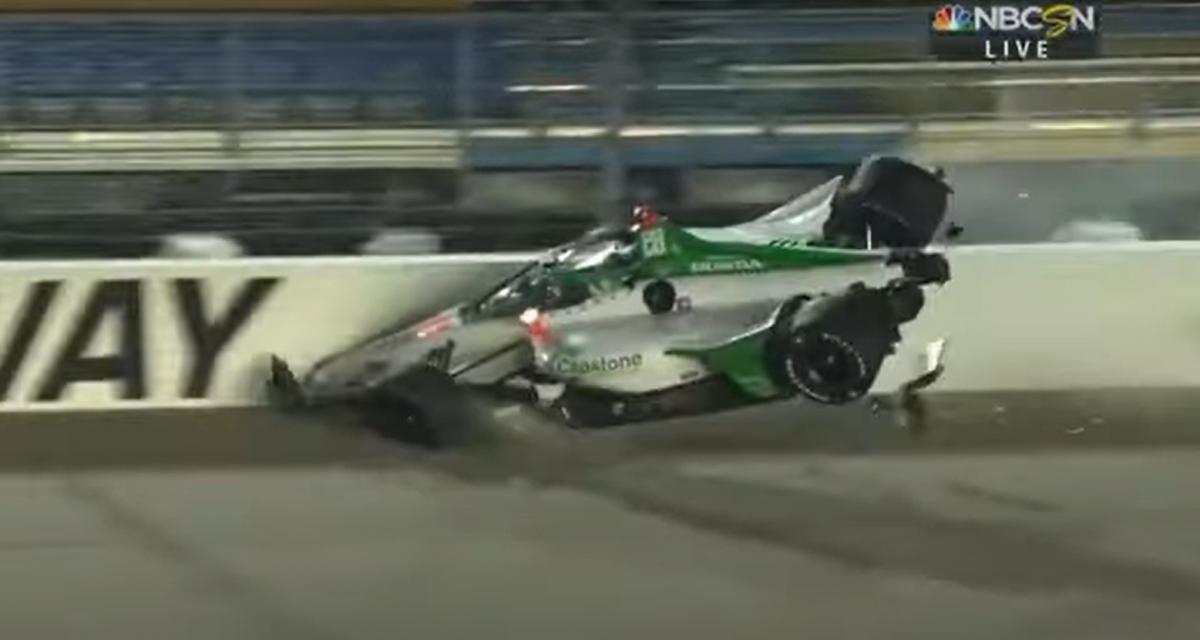 IndyCar : le spectaculaire accident entre Colton Herta et Rinus VeeKay en vidéo
