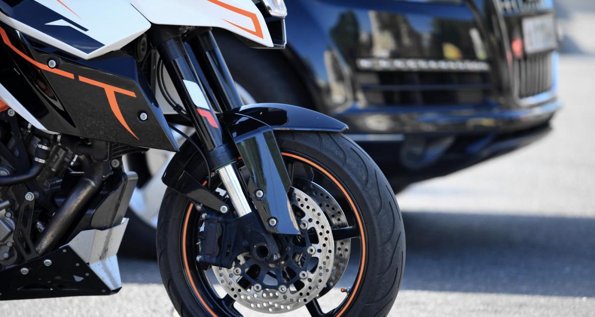 Un motard trace à 153 km/h sur une départementale, sa moto confisquée