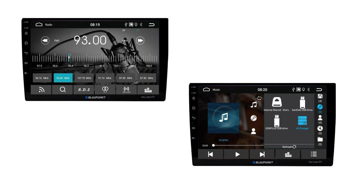 Un autoradio Android avec écran 10 pouces chez Blaupunkt