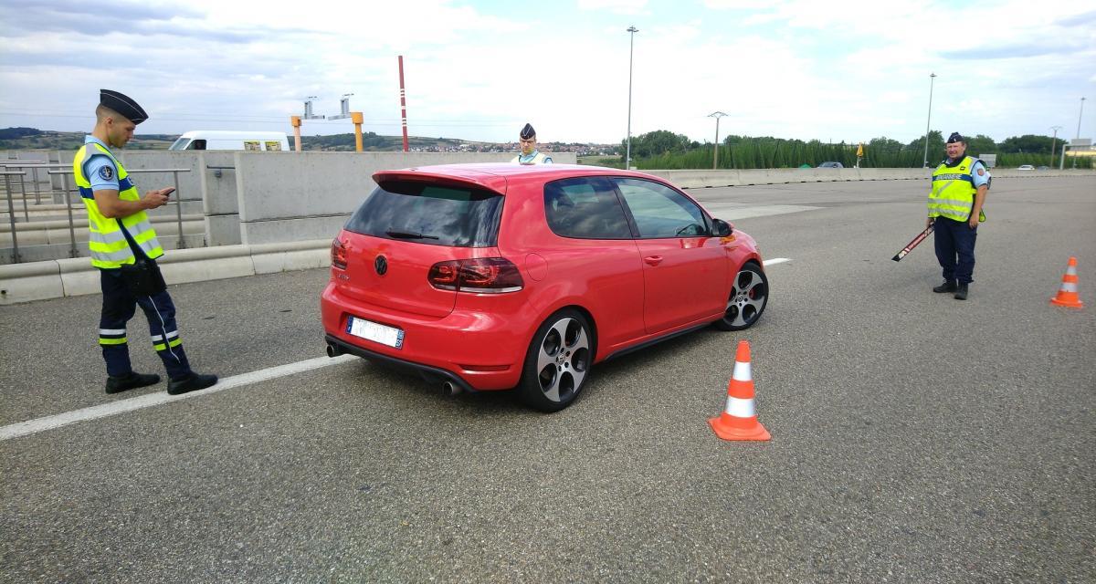 Contrôlé à 187 km/h sur autoroute par les gendarmes, il est privé de son permis