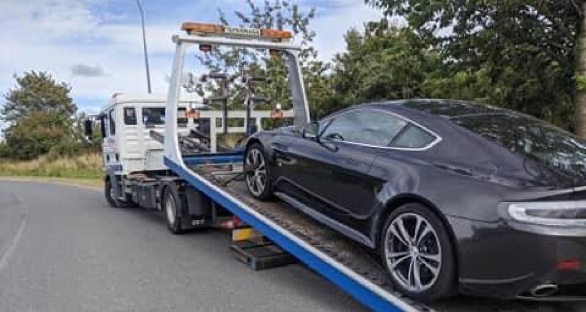 Une Aston Martin contrôlée à 175 km/h sur une départementale, le chauffard dit adieu à son permis