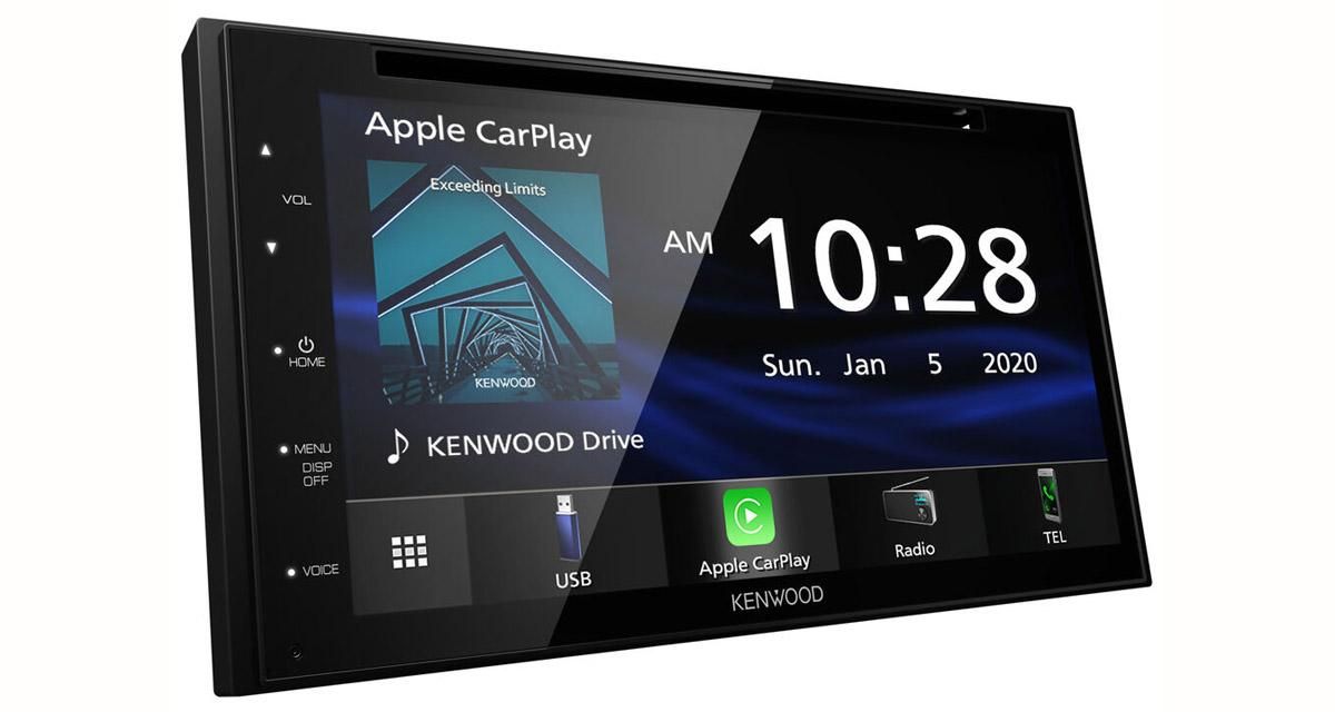 Kenwood-Electronics dévoile un nouvel autoradio CarPlay et Android Auto