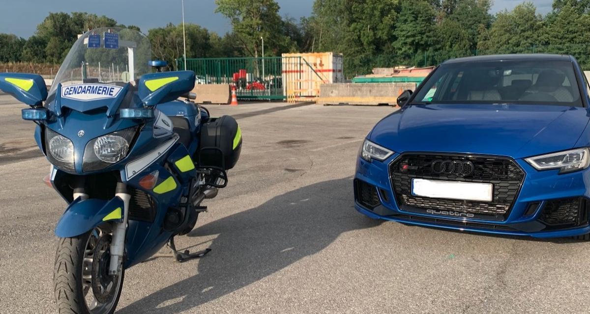 Rattrapé par les gendarmes après un rush à 200 km/h, son Audi RS 3 finit à la fourrière