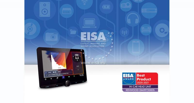 Kenwood remporte un trophée à l'EISA 2020-2021 pour son nouvel autoradio multimédia