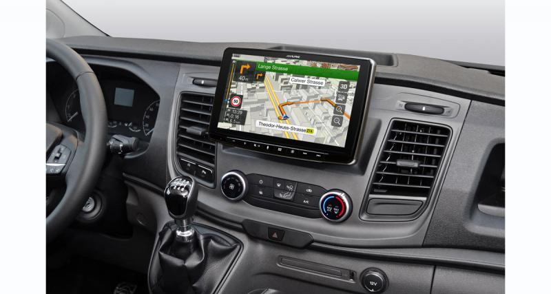 Alpine commercialise un autoradio multimédia « plug and play » pour le Ford Transit Custom