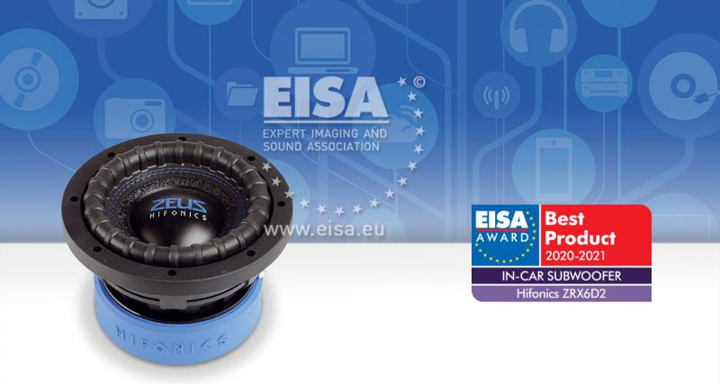 Hifonics primée à l'EISA 2020-2021 pour son subwoofer ZRX6D2