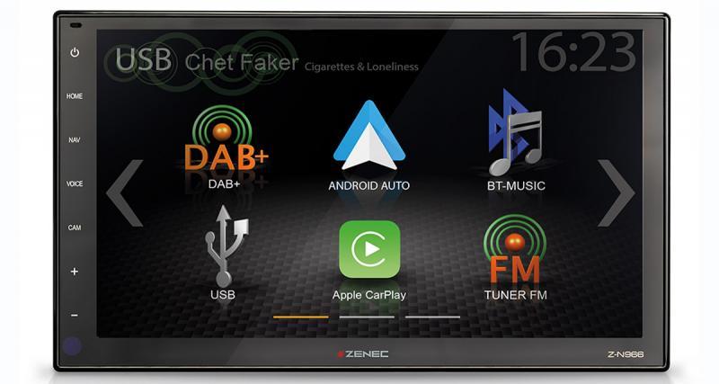 Zenec commercialise un nouvel autoradio CarPlay avec grand écran