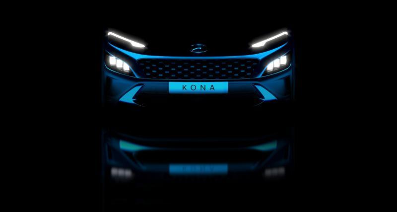 Hyundai Kona (2021) : la version restylée du SUV teasée par le constructeur
