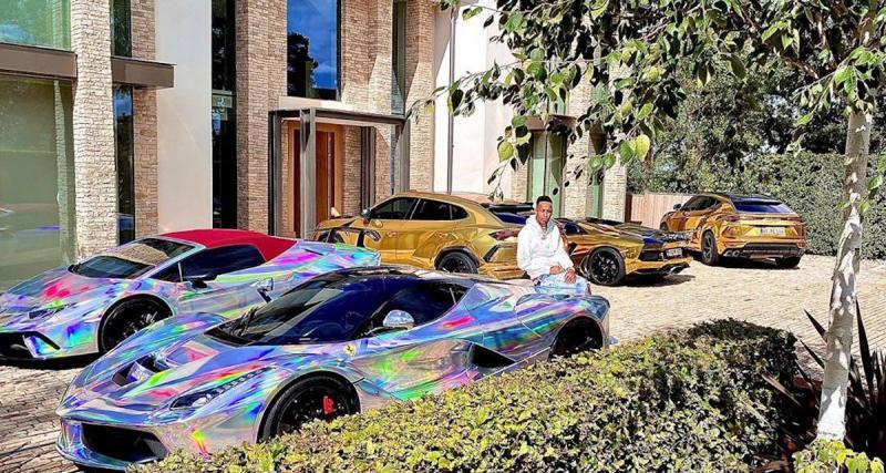 Aubameyang pose sur Insta avec ses Lambo et Ferrari : une photo à plus de 2 millions d'euros