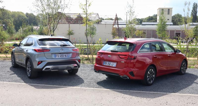 Kia Ceed SW et XCeed hybrides rechargeables : les images de notre essai