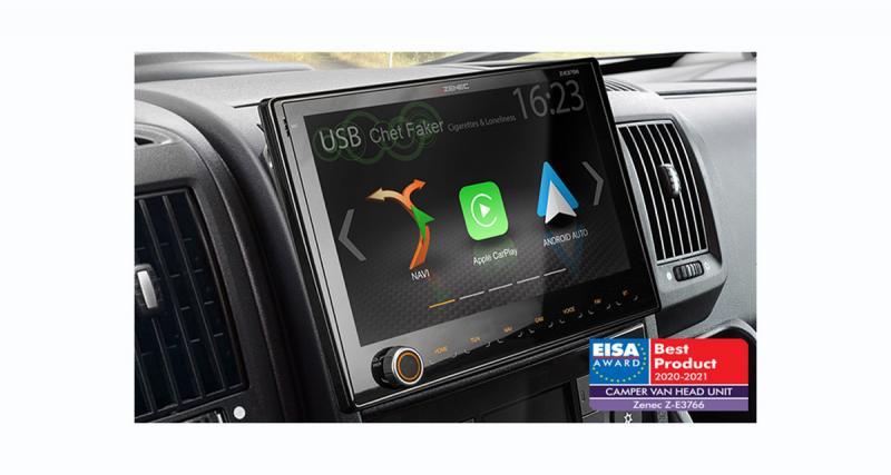 Zenec a été primé à l'EISA 2020-2021 pour son autoradio Z-E3766