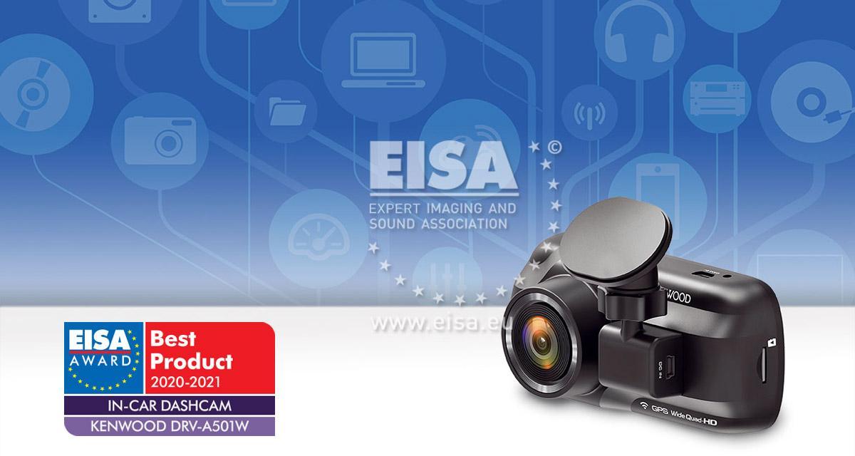 Kenwood remporte le prix Dashcam de l'année à l'EISA 2020-2021