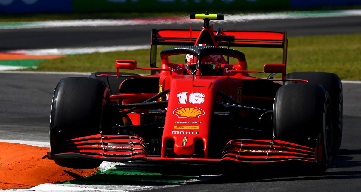 Grand Prix d'Italie de F1 : le crash de Charles Leclerc en vidéo