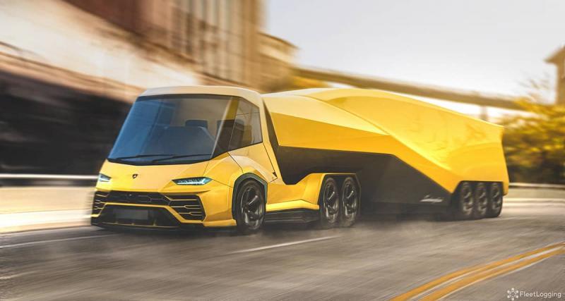 4 - Le semi-remorque Lamborghini