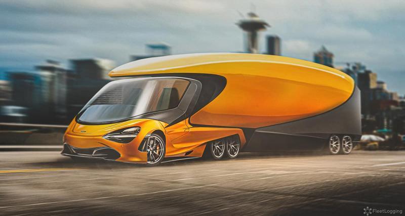 5 - Le semi-remorque McLaren