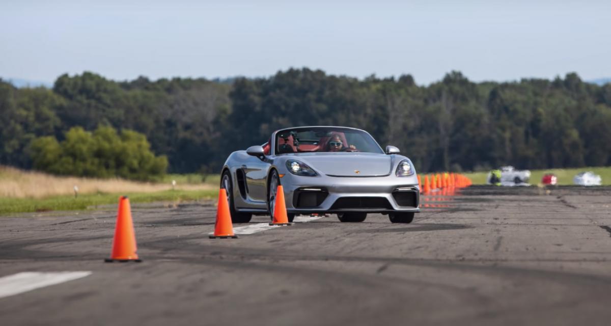 A 16 ans, elle entre dans le Guinness Book des records au volant d'une Porsche 718 Spyder