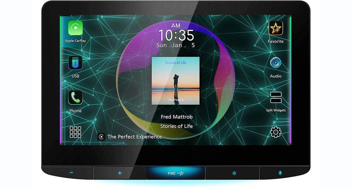 JVC dévoile un autoradio CarPlay avec écran de 10 pouces
