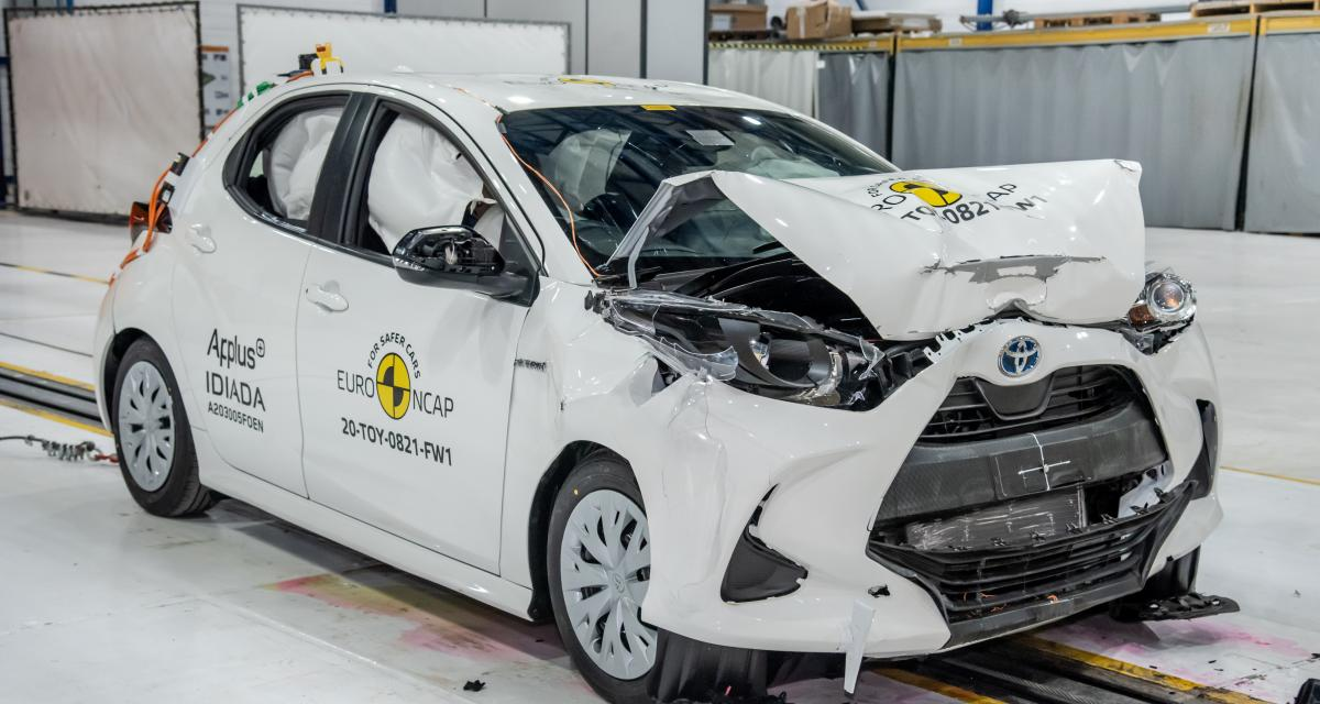 Nouvelle Toyota Yaris : 5 étoiles au crash-test Euro NCAP pour la citadine japonaise (vidéo)