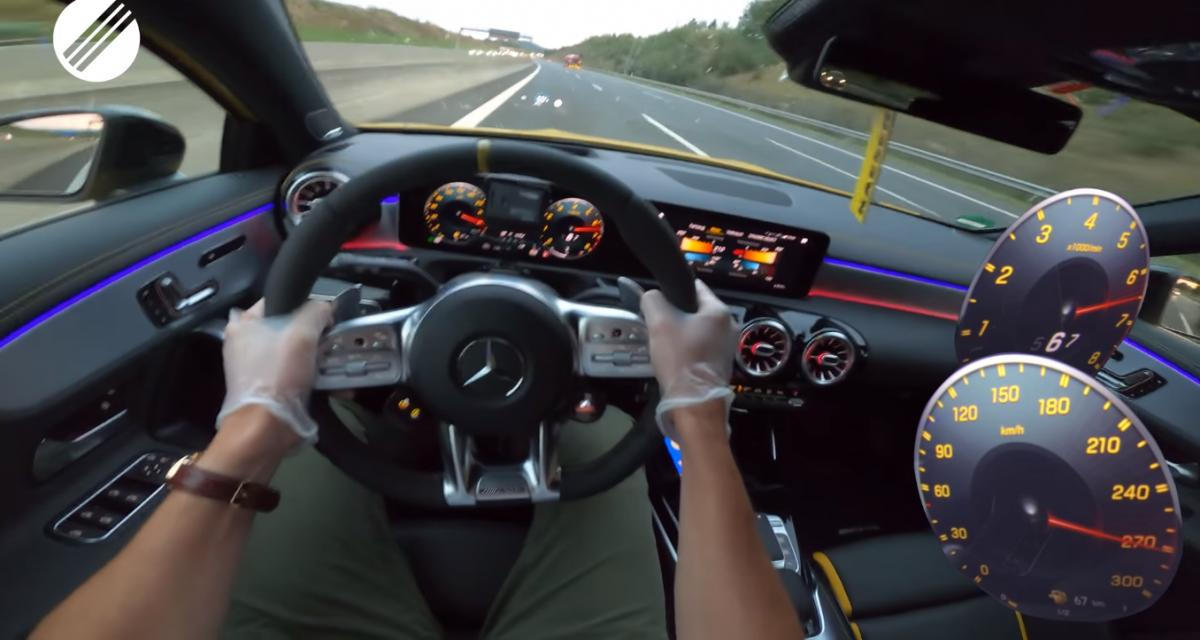 À fond de compteur : la nouvelle Mercedes Classe A à 280 km/h sur autoroute (vidéo)
