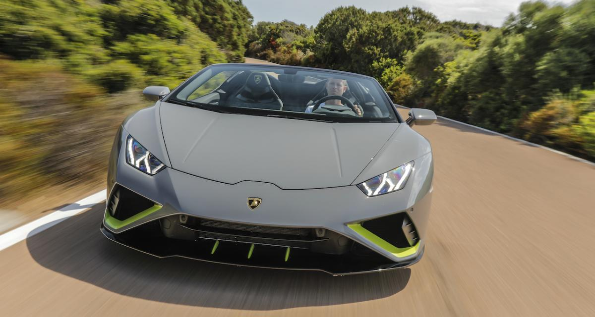 Essai Lamborghini Huracan Evo RWD: Italo-Disco