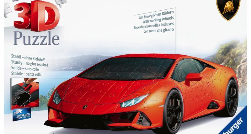Construisez votre propre Lamborghini Huracan Evo en puzzle 3D