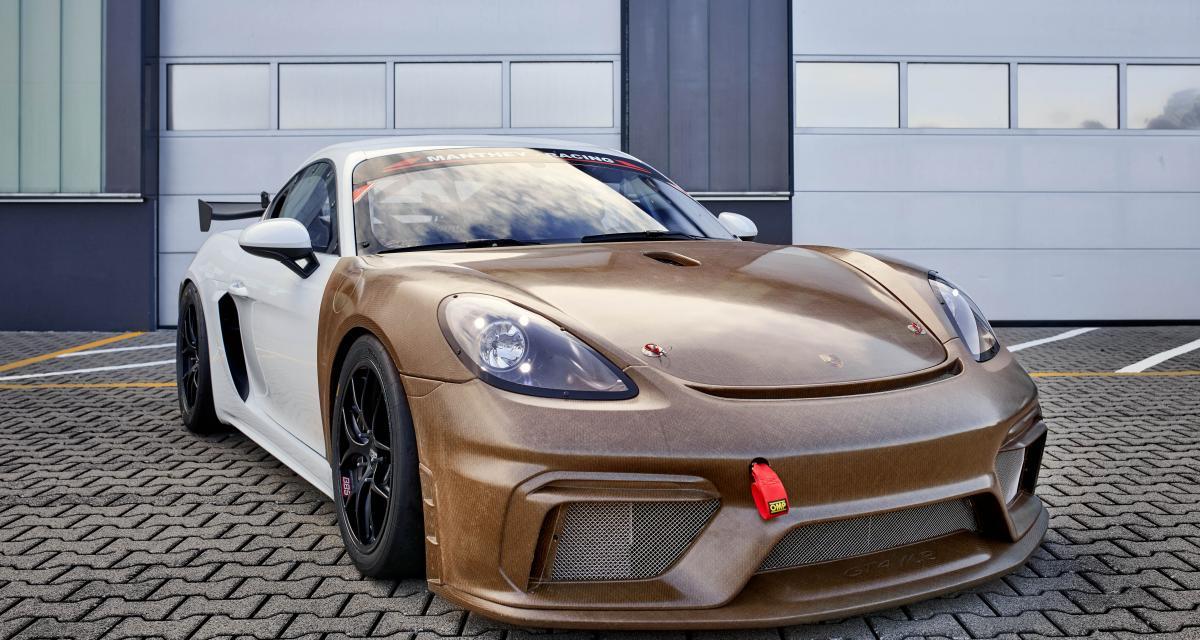 Porsche 718 Cayman GT4 MR : un kit carrosserie fabriqué à partir de plantes