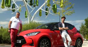 Nouvelle Toyota Yaris Hybride : rencontre verte avec l'arbre à vent