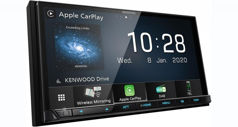 Un nouvel autoradio CarPlay et Android Auto chez Kenwood-Electronics