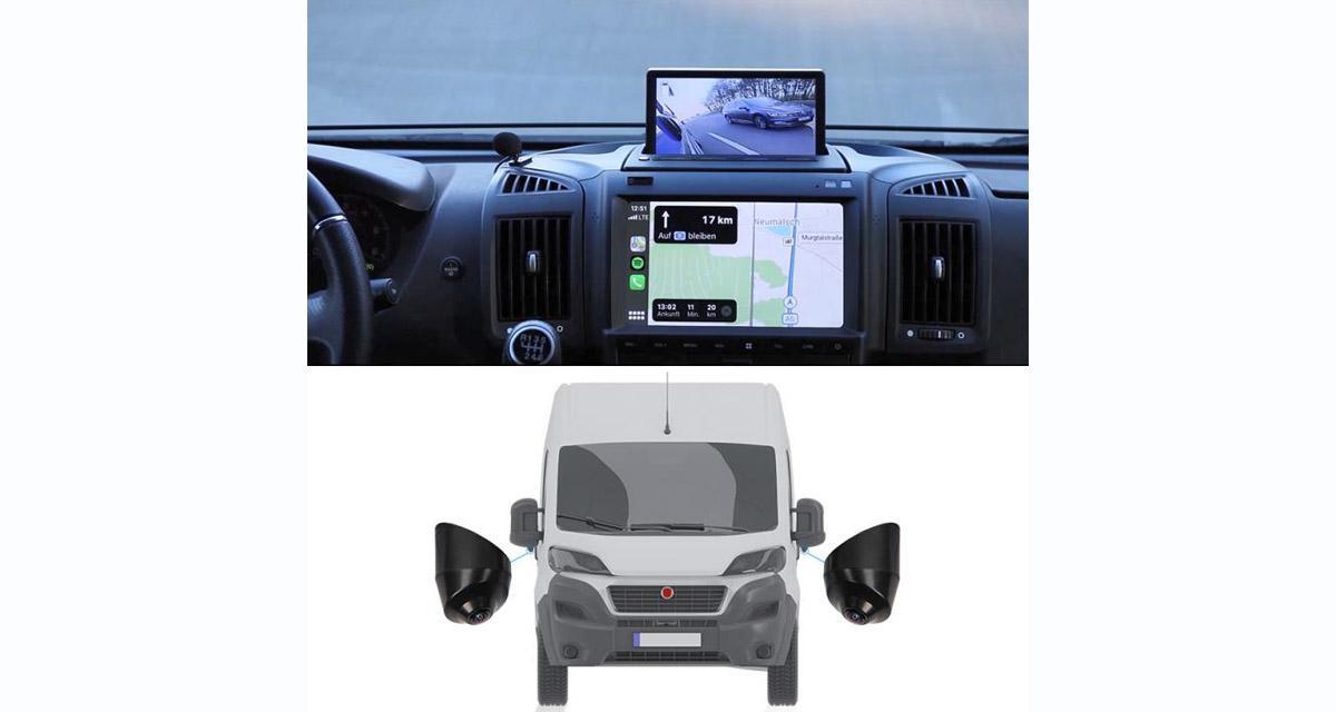 Un kit caméras et écran « plug and play » pour le Fiat Ducato chez Dynavin
