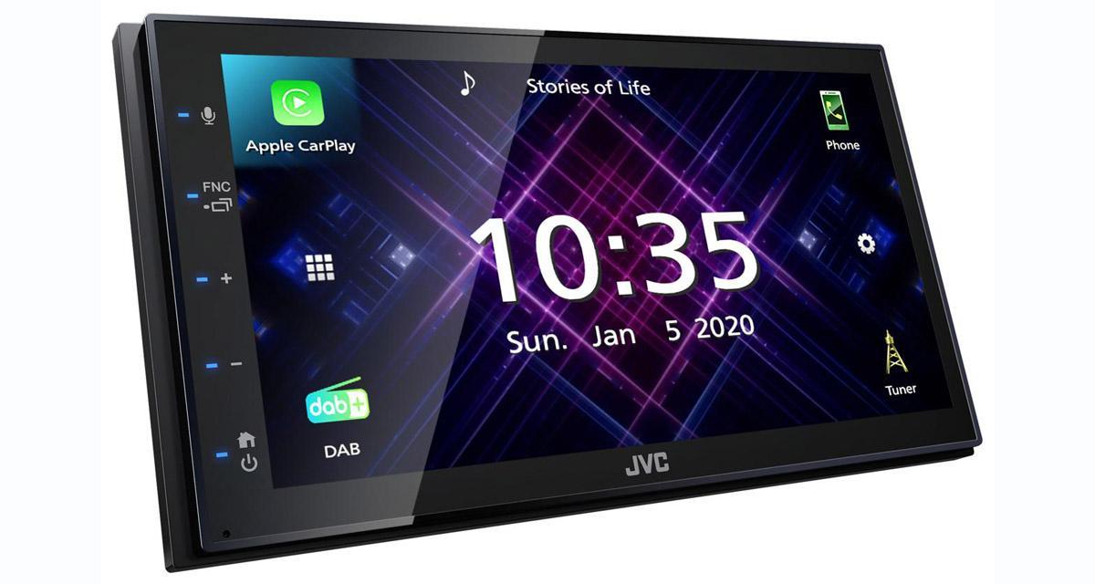 Un autoradio CarPlay et Android Auto à prix canon chez JVC