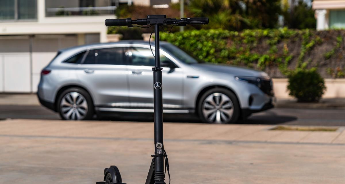 Mercedes eScooter : 25 km d'autonomie pour la 1ère trottinette électrique du constructeur allemand