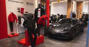 Le Porsche Taycan s'habille chez Boss pendant toute une semaine