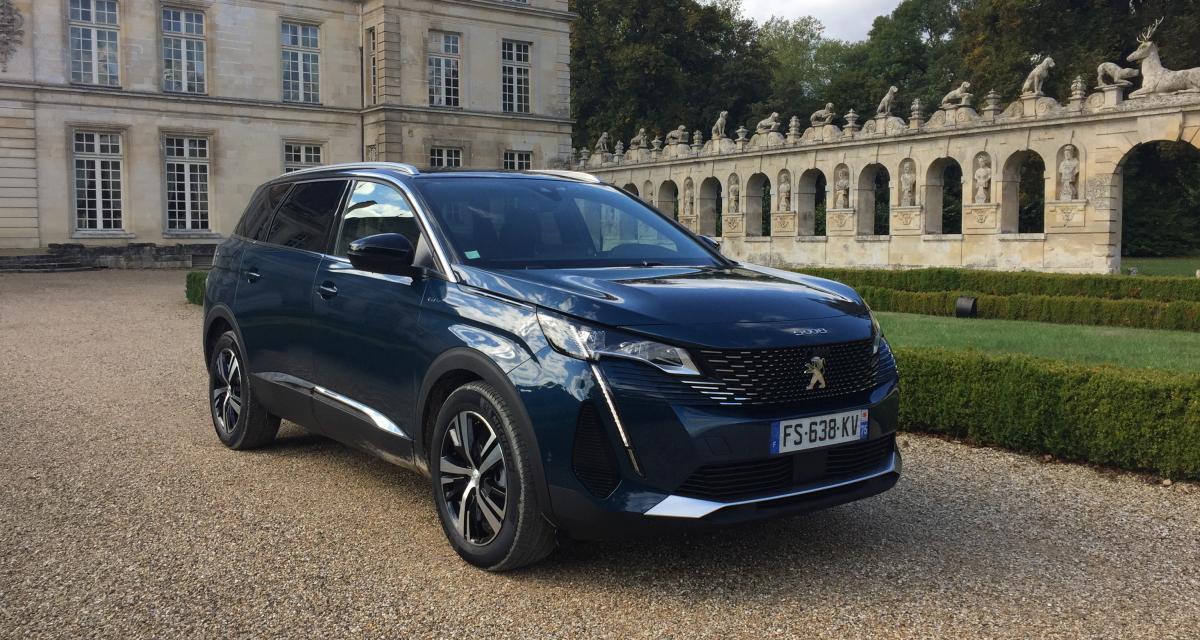 Essai Peugeot 5008 restylé (2021) : nos photos du SUV familial