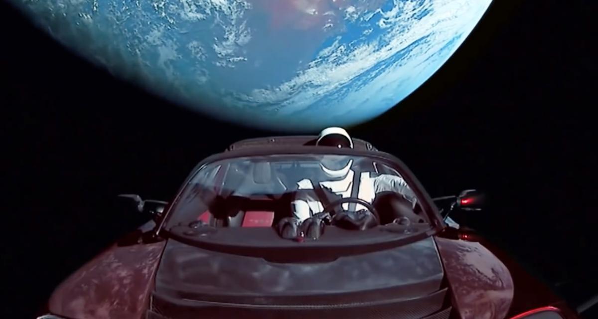 La Tesla envoyée dans l'espace par Elon Musk approche de Mars
