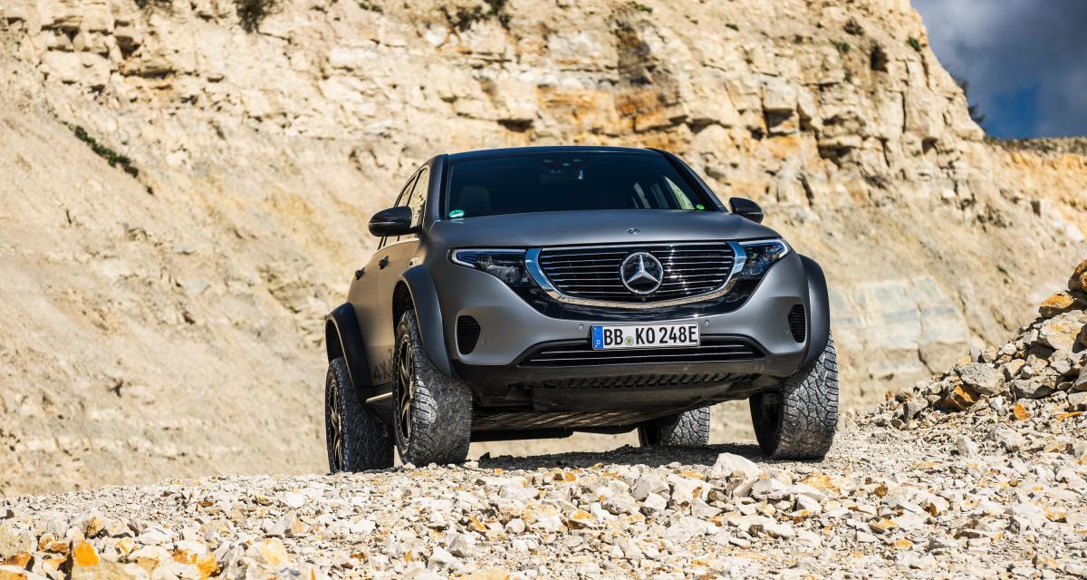 Mercedes EQC 4x4² : l'électrique qui aime aussi se salir les bas de caisse