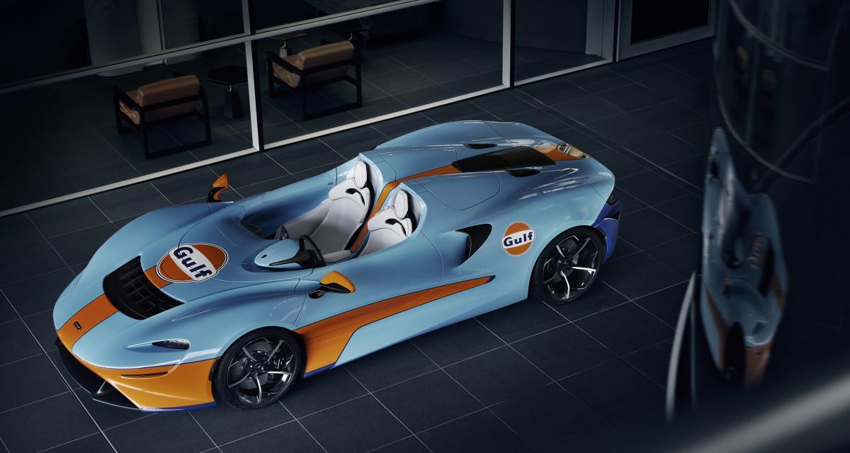 Nouvelle McLaren Elva Gulf Theme : présentation ce week-end à la Goodwood Speedweek